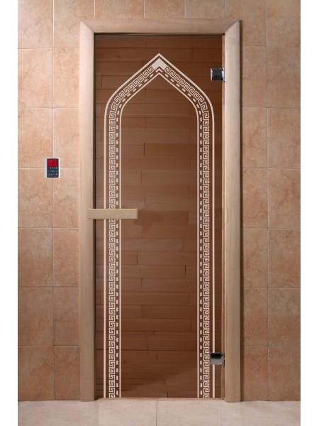 "Дверь ""Арка бронза"" 1900*700, 6мм, 2 петли"