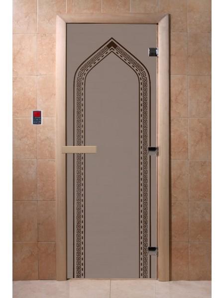 """Дверь """"Арка черный жемчуг матовая"""""""