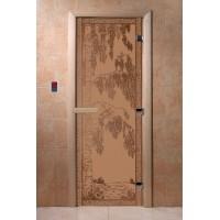 """Дверь """"Березка бронза матовая"""""""