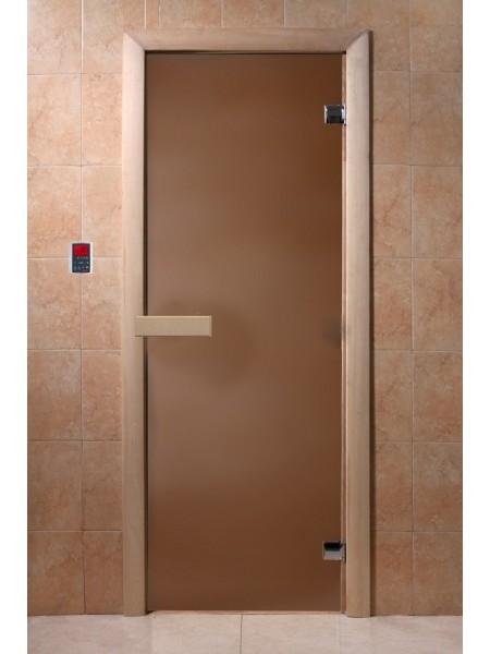 """Дверь """"Бронза матовая"""" 1900*700, 6мм, 2 петли"""