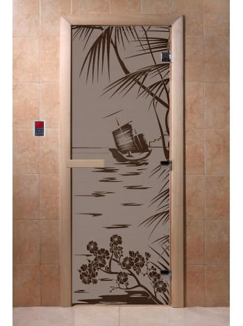 """Дверь """"Голубая лагуна черный жемчуг матовая"""""""