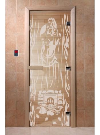 """Дверь """"Горячий пар прозрачная"""""""