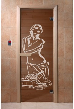 """Дверь """"Искушение бронза"""" 1900*700, 6мм, 2 петли"""