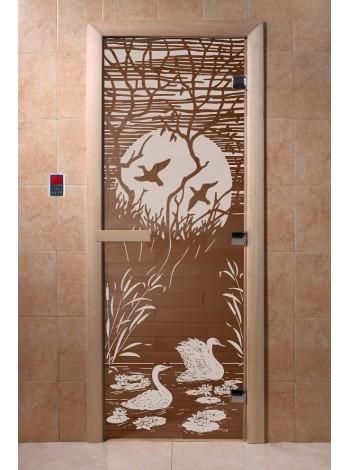 """Дверь """"Лебединое озеро бронза"""""""