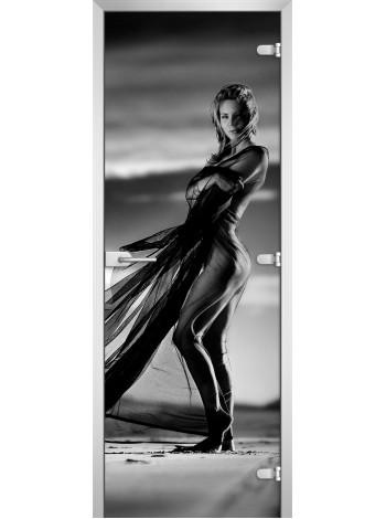 Стеклянное полотно с фотопечатью Woman-01