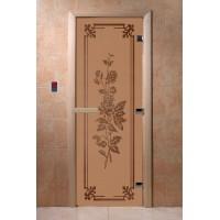 """Дверь """"Розы бронза матовая"""""""