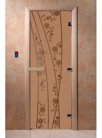 """Дверь """"Весна цветы бронза матовая"""""""