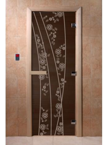 """Дверь """"Весна цветы черный жемчуг"""""""