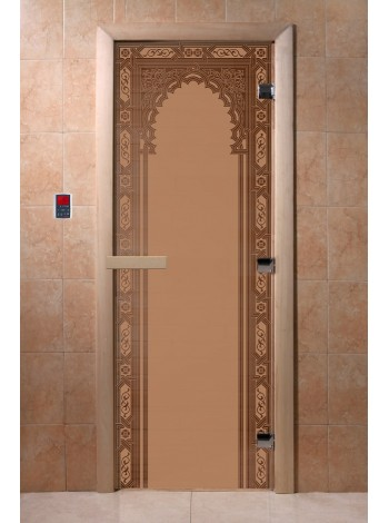 """Дверь """"Восточная арка бронза матовая"""""""