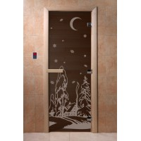 """Дверь """"Зима черный жемчуг"""""""