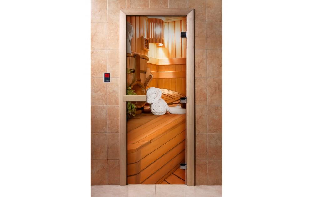 Стеклянные двери для парной: сравнение с деревянными