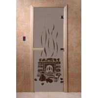 """Дверь """"Банька черный жемчуг матовая"""""""