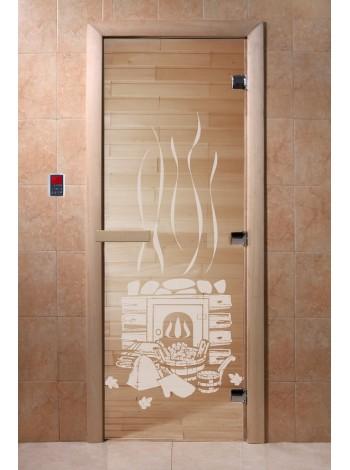 """Дверь """"Банька прозрачная"""""""