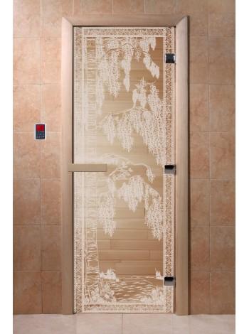 """Дверь """"Березка прозрачная"""""""