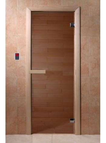 """Дверь """"Бронза"""" 1900*700, 6мм, 2 петли"""