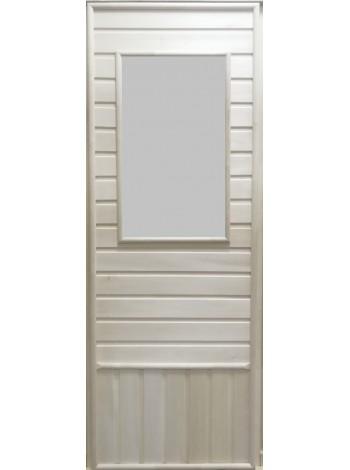 Дверь с прямоугольной стеклянной вставкой с сюжетом