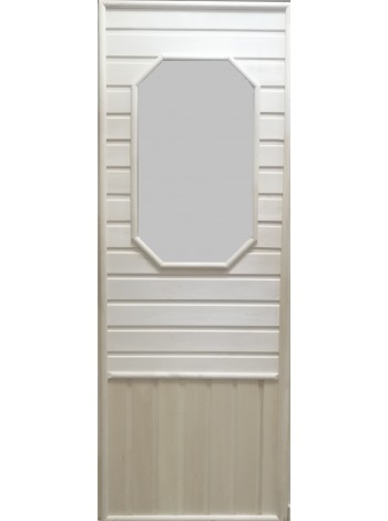 Дверь с восьмиугольной стеклянной вставкой