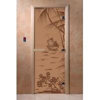 """Дверь """"Голубая лагуна бронза матовая"""""""