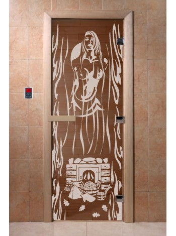 """Дверь """"Горячий пар бронза"""""""
