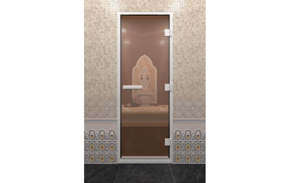 Стеклянные двери для хамама