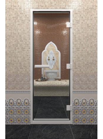 """Дверь """"Хамам Прозрачное"""""""