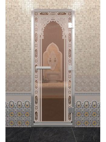 "Дверь ""Хамам Восточная Арка Бронза"""