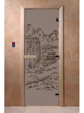 """Дверь """"Китай черный жемчуг матовая"""""""