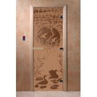 """Дверь """"Лебединое озеро бронза матовая"""""""
