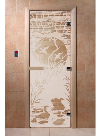 """Дверь """"Лебединое озеро сатин"""""""
