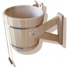 Обливное устройство с пластиковой вставкой кедр 16 литров