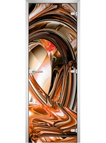 Стеклянная межкомнатная дверь Abstraction-14