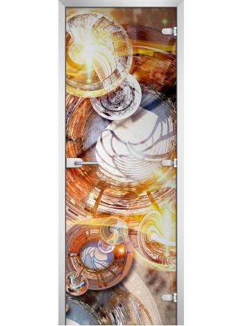 Стеклянная межкомнатная дверь Abstraction-18