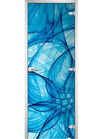 Стеклянная межкомнатная дверь Abstraction-06