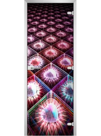 Стеклянная межкомнатная дверь Abstraction-09