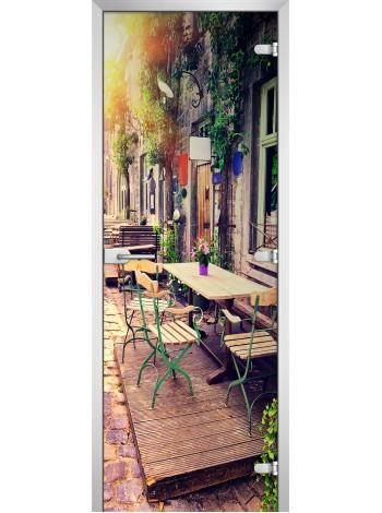 Стеклянная межкомнатная дверь серия City-15