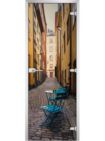 Стеклянная межкомнатная дверь серия City-17