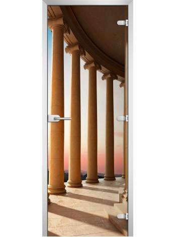 Стеклянная межкомнатная дверь серия City-19