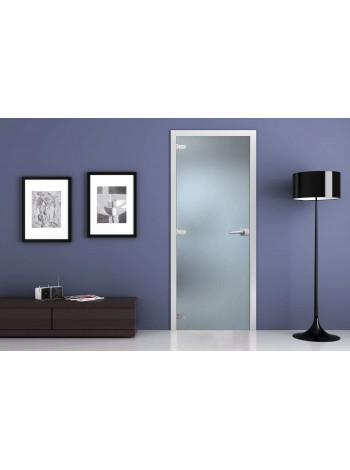 Стеклянная межкомнатная дверь Матовая (Бесцветная)