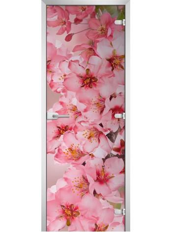Стеклянная межкомнатная дверь Flowers-05
