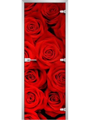 Стеклянная межкомнатная дверь Flowers-08