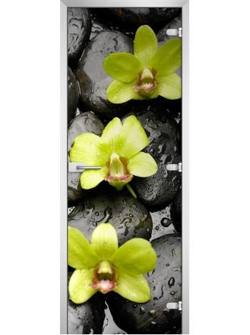 Стеклянная межкомнатная дверь Flowers-11