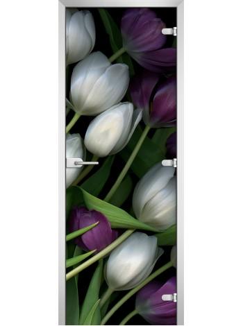 Стеклянная межкомнатная дверь Flowers-12