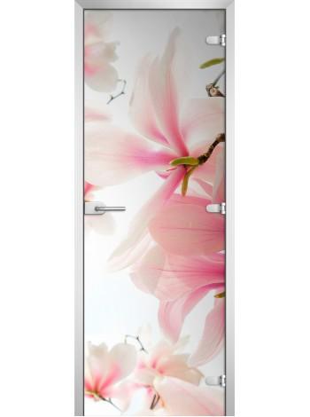 Стеклянная межкомнатная дверь Flowers-14