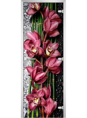 Стеклянная межкомнатная дверь Flowers-20