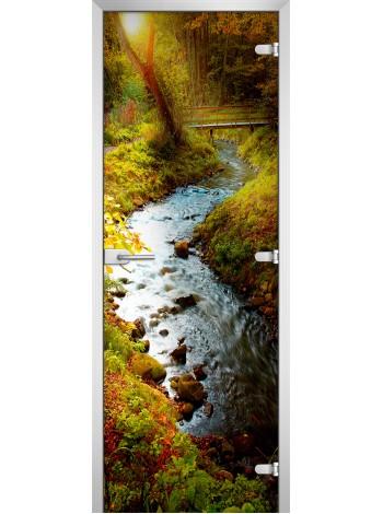Стеклянное полотно с фотопечатью Forest-01