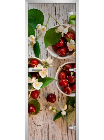 Стеклянная межкомнатная дверь Fruite-04