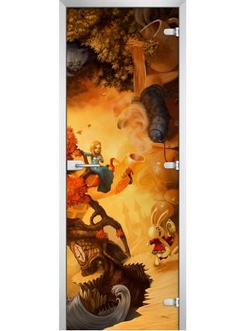 Стеклянная межкомнатная дверь Kids-08