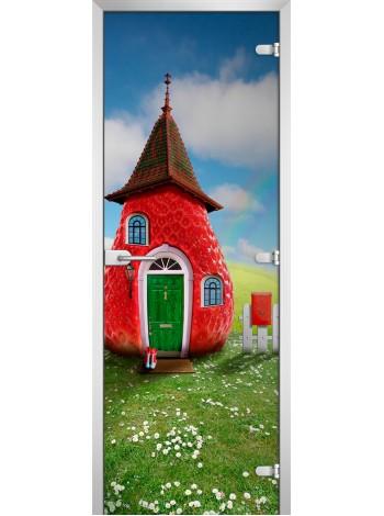 Стеклянная межкомнатная дверь Kids-15