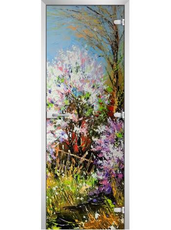 Стеклянная межкомнатная дверь Painting-01