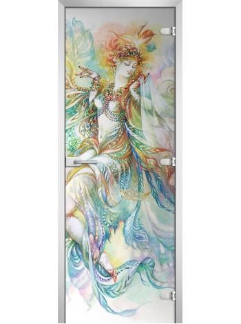 Стеклянная межкомнатная дверь Painting-08
